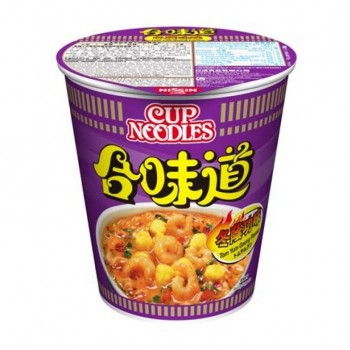 NISSIN TOM YUM SEAFOOD FLAV CUP NOODLES
